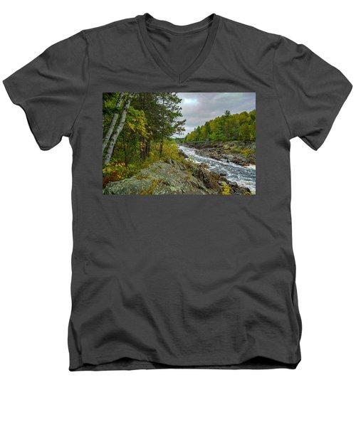 Storm Clouds At Jay Cooke Men's V-Neck T-Shirt