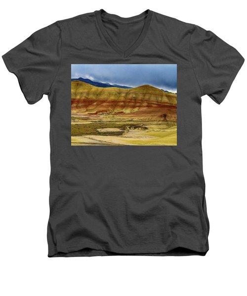 Storm Over Painted Hills Men's V-Neck T-Shirt
