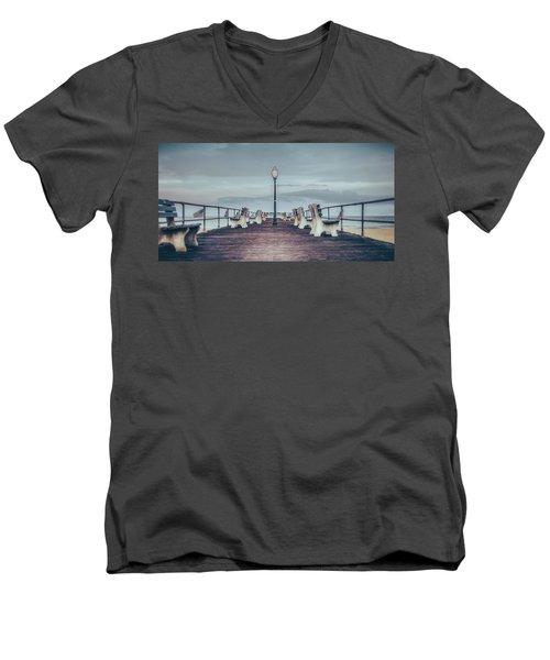 Stormy Boardwalk Men's V-Neck T-Shirt