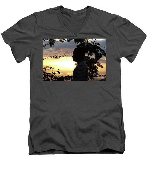Into The Shadows  Men's V-Neck T-Shirt