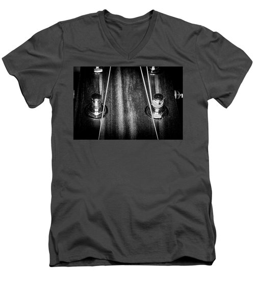 Men's V-Neck T-Shirt featuring the photograph Strings Series 16 by David Morefield