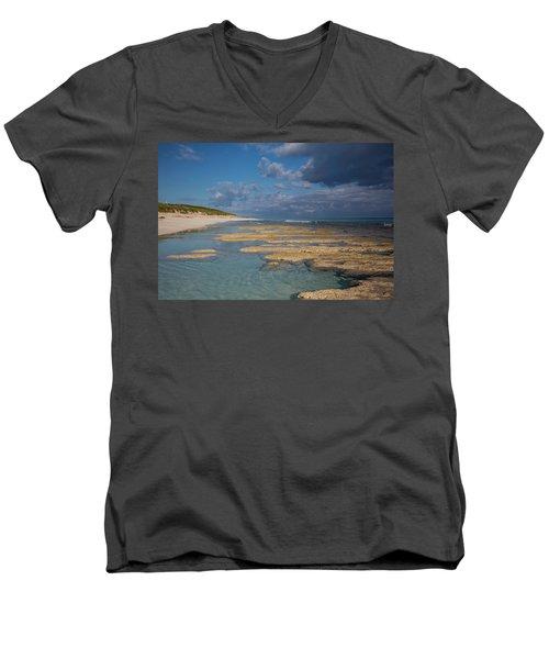 Stromatolites On Stocking Island Men's V-Neck T-Shirt