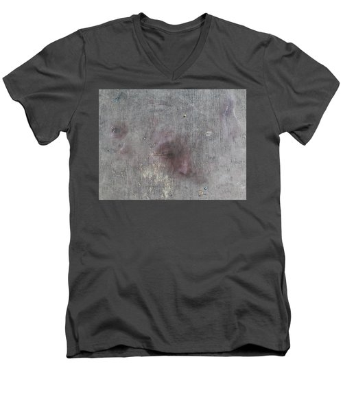 Men's V-Neck T-Shirt featuring the digital art Study Sheet by Attila Meszlenyi