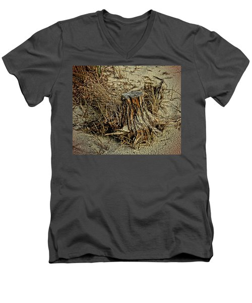 Stump At The Beach Men's V-Neck T-Shirt