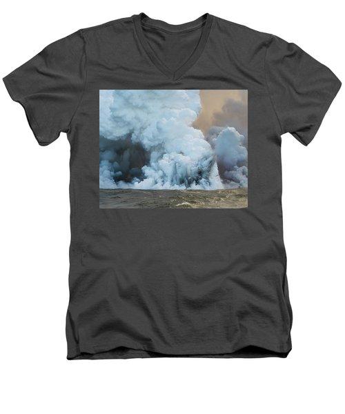 Submerged Lava Bomb Men's V-Neck T-Shirt