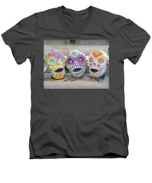 Sugar Skulls Men's V-Neck T-Shirt