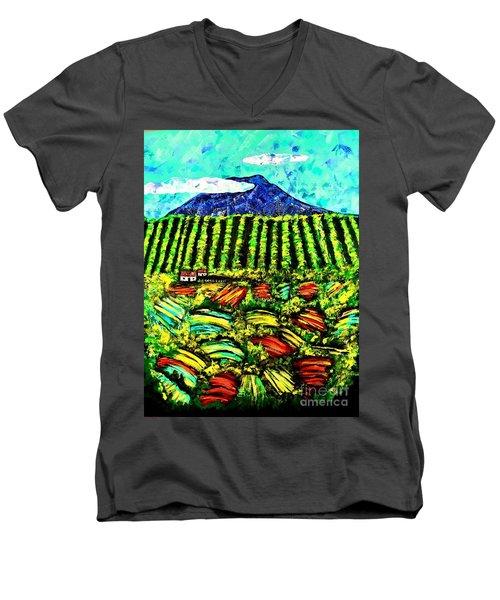 Sumatra Coffee Plantation Men's V-Neck T-Shirt