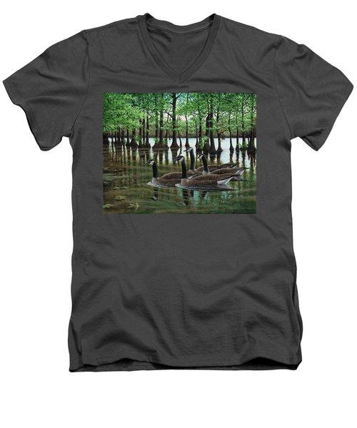 Summer Among The Cypress Men's V-Neck T-Shirt