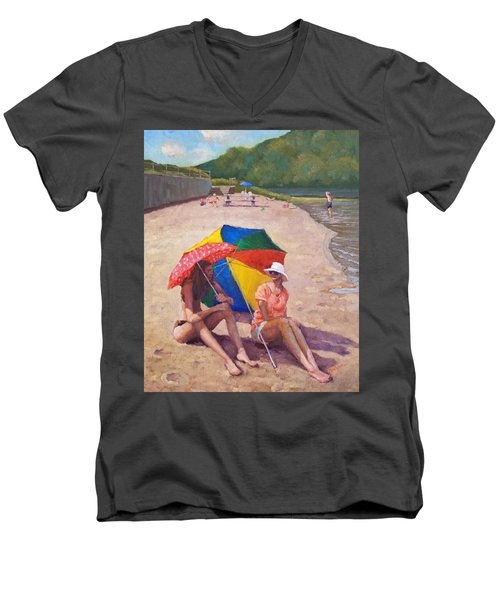 Summer At Jersey Valley Men's V-Neck T-Shirt