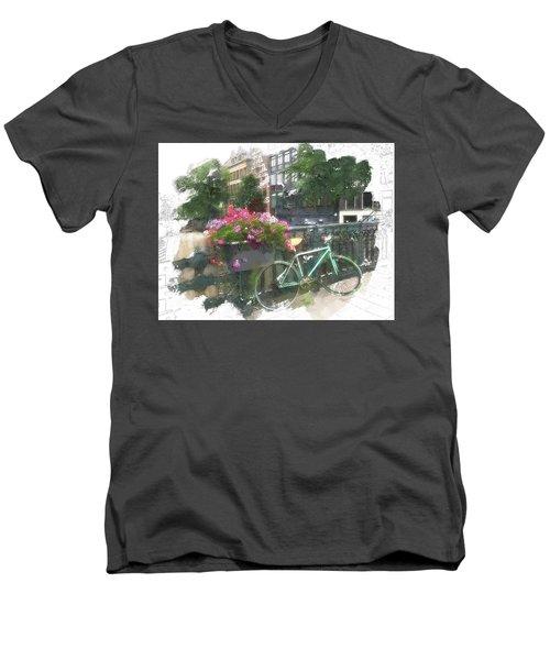 Summer In Amsterdam Men's V-Neck T-Shirt