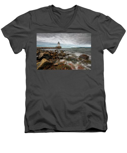 Summer Tides At Bug Light Men's V-Neck T-Shirt