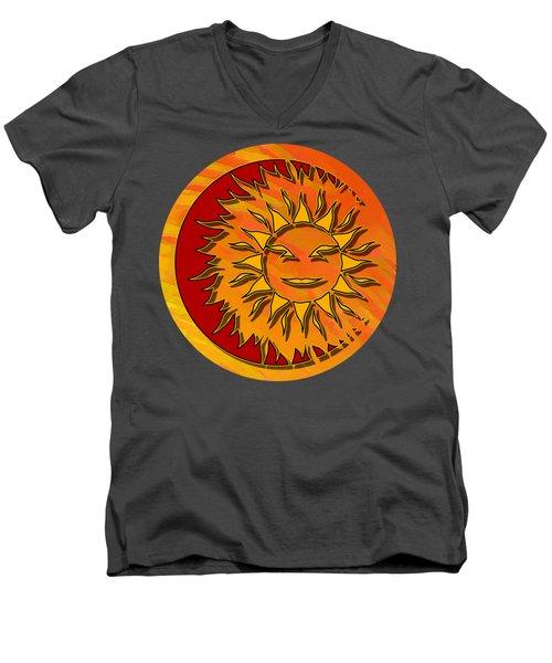Sun Eclipsing The Moon Men's V-Neck T-Shirt