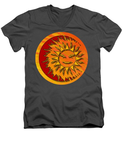 Sun Eclipsing The Moon Men's V-Neck T-Shirt