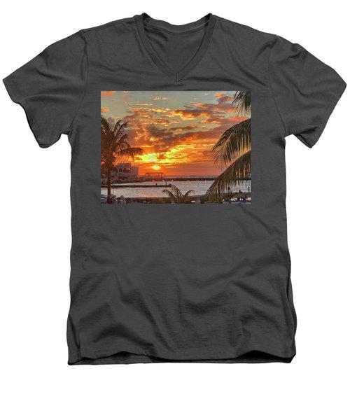 Sun Is Setting Men's V-Neck T-Shirt