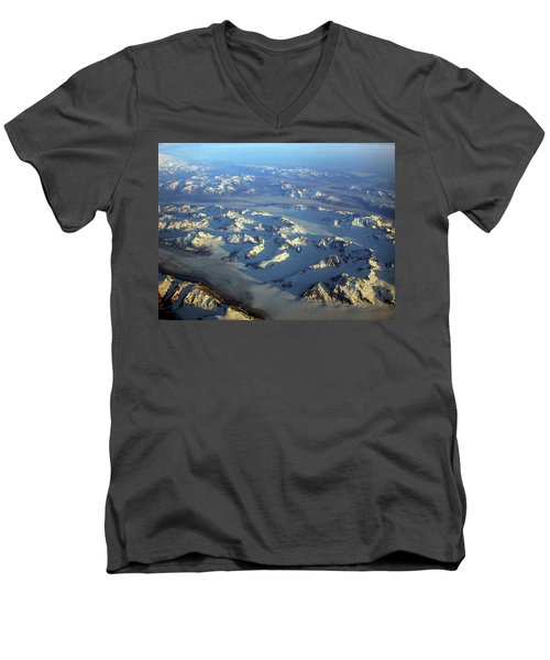 Sun Kissed Glaciers Men's V-Neck T-Shirt
