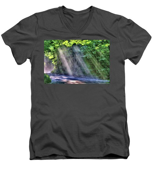 Sun Streaks Men's V-Neck T-Shirt