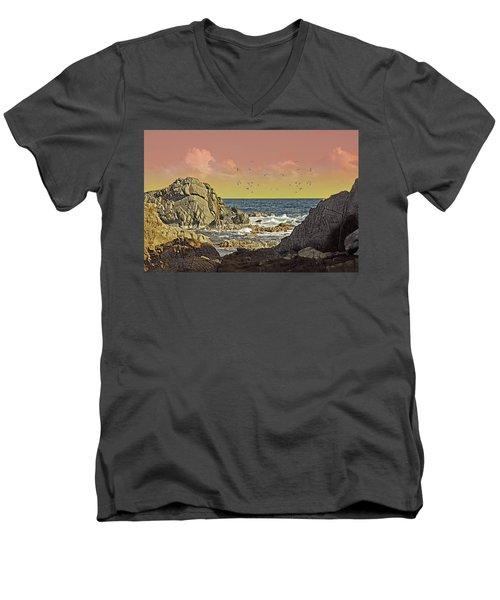 Sundown At Buck Men's V-Neck T-Shirt