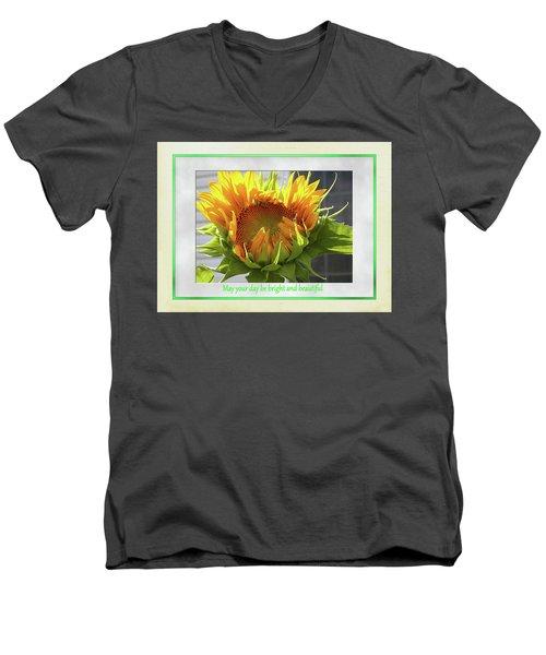 Sunflower Birthday Men's V-Neck T-Shirt