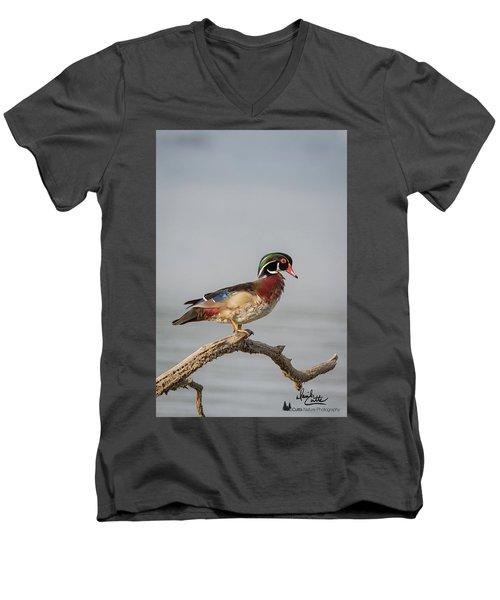 Sunny Day Wood Duck Men's V-Neck T-Shirt