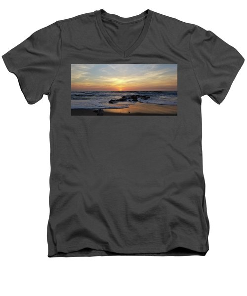 Sunrise At The 15th St Jetty Men's V-Neck T-Shirt