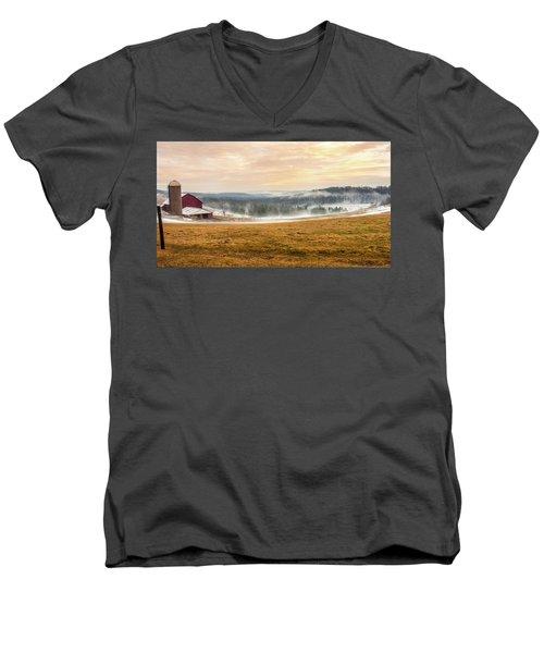 Sunrise On The Farm Men's V-Neck T-Shirt