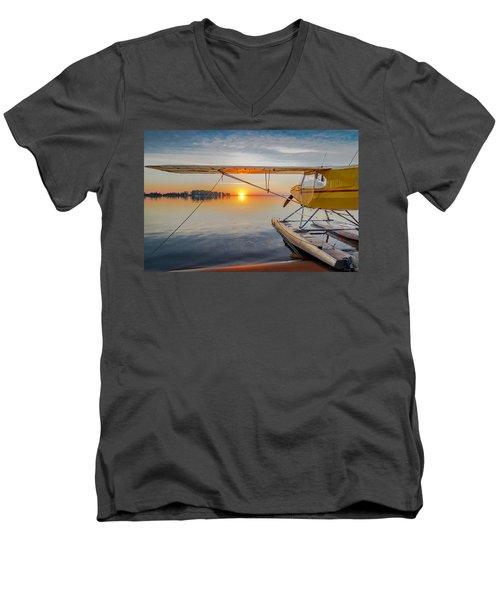 Sunrise Seaplane Men's V-Neck T-Shirt