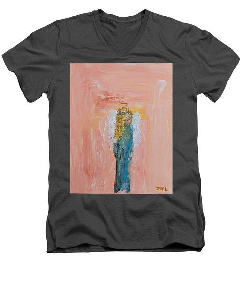 Sunset Angel Men's V-Neck T-Shirt