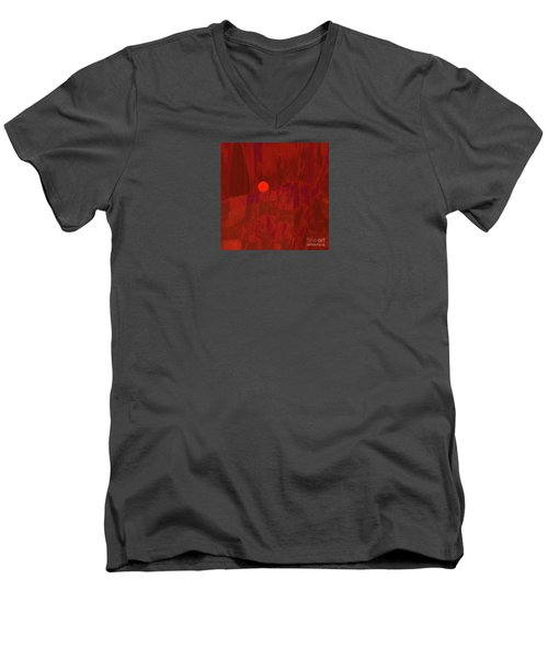 Sunset As Siler Metaphorm Men's V-Neck T-Shirt