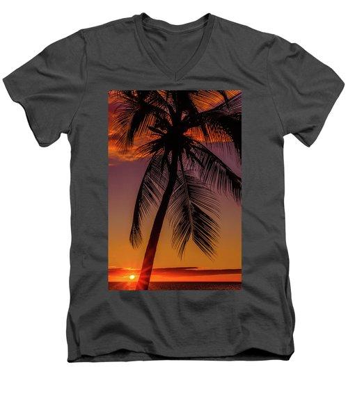 Sunset At The Palm Men's V-Neck T-Shirt