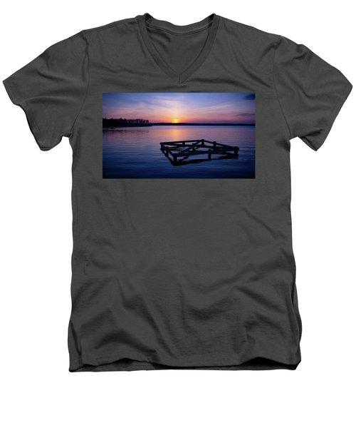 Sunset At The Reservoir  Men's V-Neck T-Shirt