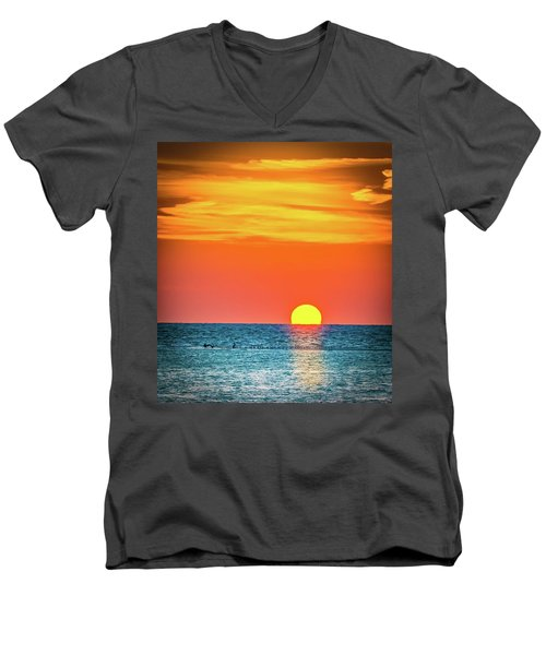 Sunset Captiva  Men's V-Neck T-Shirt