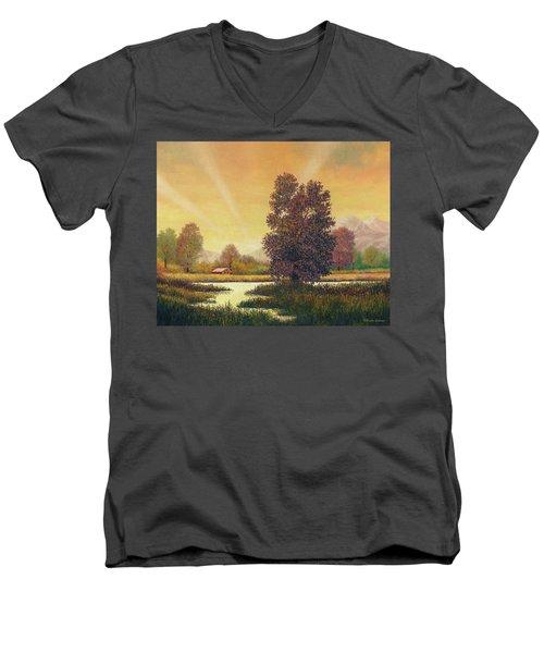 Sunset Color Men's V-Neck T-Shirt