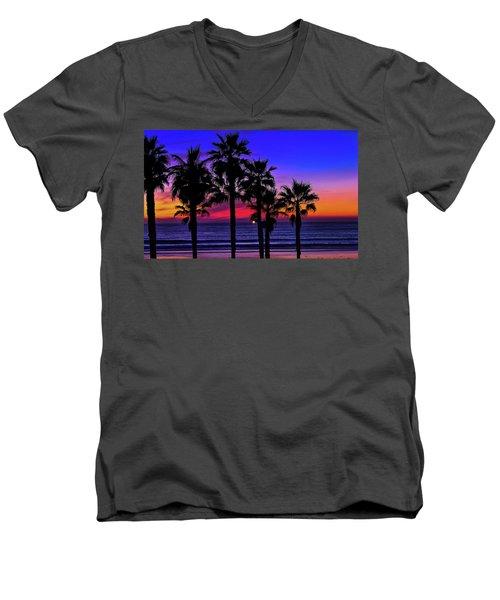 Sunset From The Ocean Park Inn Men's V-Neck T-Shirt
