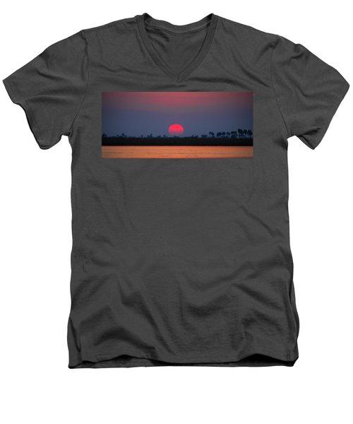 Sunset In Botswana Men's V-Neck T-Shirt