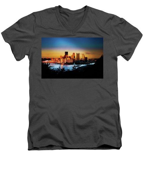 Sunset In The City Men's V-Neck T-Shirt