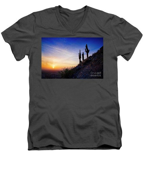 Sunset In The Desert Men's V-Neck T-Shirt