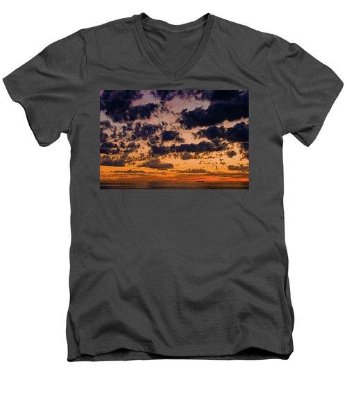 Sunset Over The Indian Ocean Men's V-Neck T-Shirt