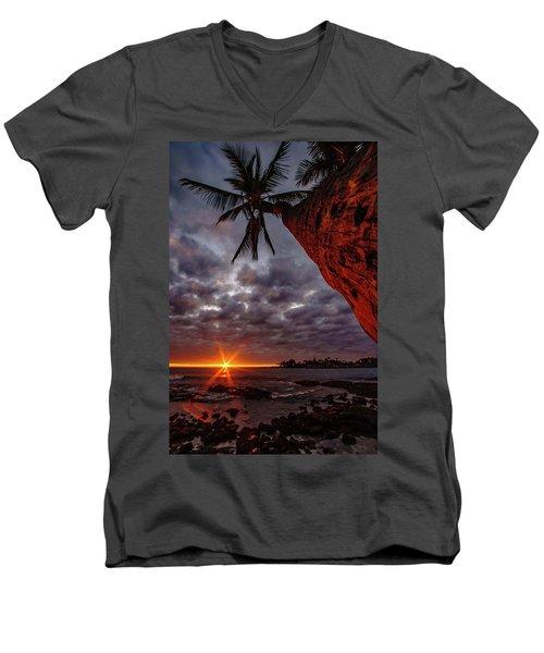 Sunset Palm Men's V-Neck T-Shirt