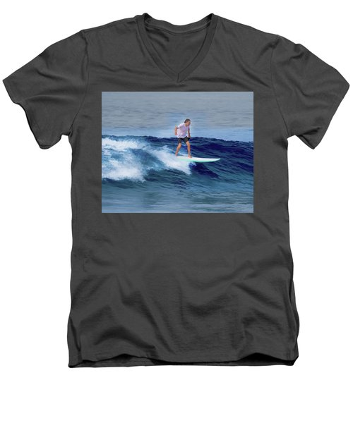Surfing Andy Men's V-Neck T-Shirt