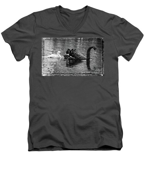 Swan And Signet Men's V-Neck T-Shirt