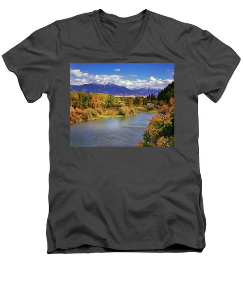 Swan Valley Autumn Men's V-Neck T-Shirt