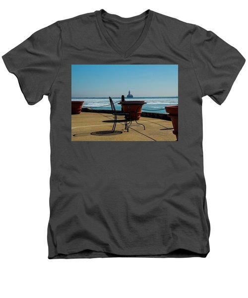 Table For One Men's V-Neck T-Shirt