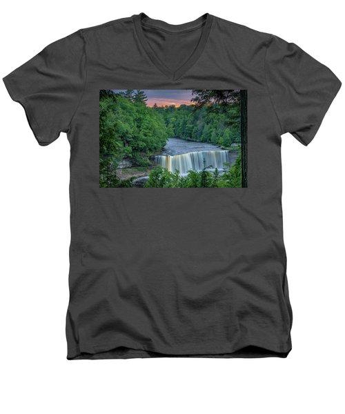 Tahquamenon Falls Sunset. Men's V-Neck T-Shirt