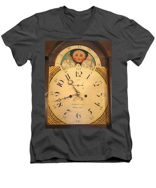 Tall Case Clock Face, Around 1816 Men's V-Neck T-Shirt