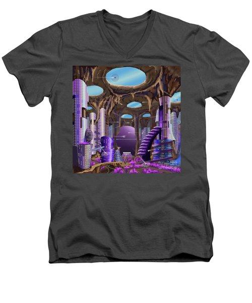Tandalo, Sferogyl's Capital Men's V-Neck T-Shirt