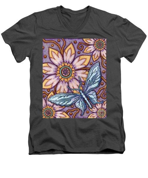 Tapestry Butterfly Men's V-Neck T-Shirt