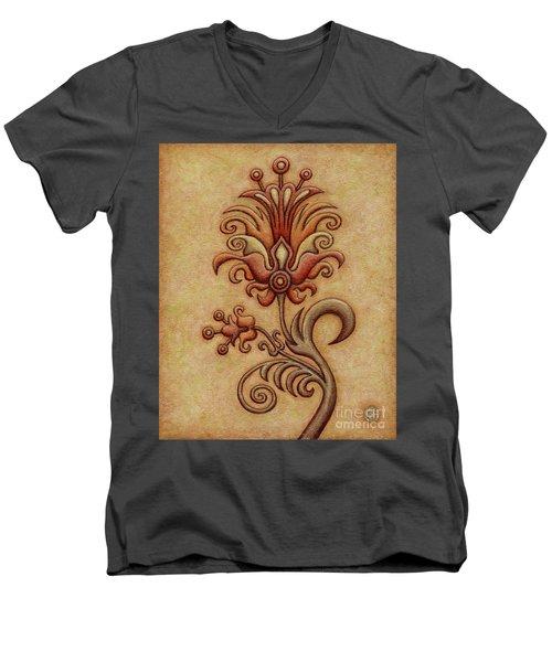 Tapestry Flower 7 Men's V-Neck T-Shirt
