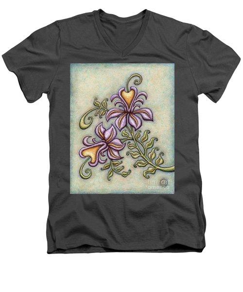 Tapestry Flower 8 Men's V-Neck T-Shirt