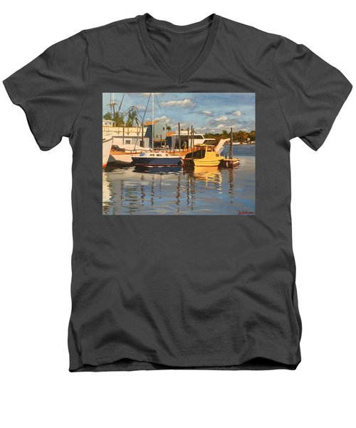 Tarpon Springs Harbour Men's V-Neck T-Shirt
