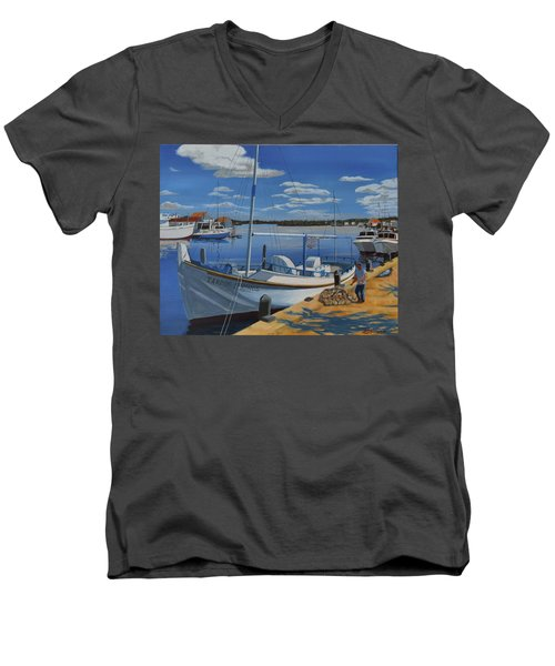 Tarpon Springs Sponger Men's V-Neck T-Shirt